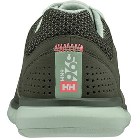 Helly Hansen Ahiga V3 Hydropower Kengät Naiset, forest night/cameo green/neon coral